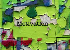 Stock Photo of Motivation puzzle concept
