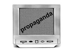 Stock Photo of TV propaganda