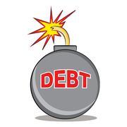 Exploding Debt Stock Illustration