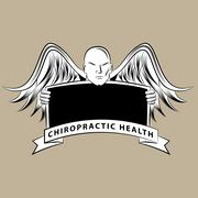 Chiropractic Health Symbol - stock illustration