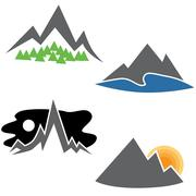 Mountain Range Set Piirros
