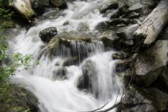 Pacific Northwest Waterfall - stock photo
