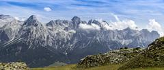 Summer mountains panorama, Dolomiti - stock photo