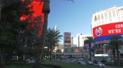 Famous Las Vegas Boulevard in the afternoon, USA Stock Footage