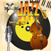 Jazz music Stock Illustration