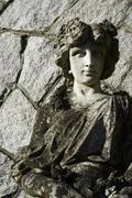 Garden goddess sculpture - stock photo