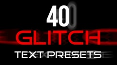 Stock After Effects of glitch text presets