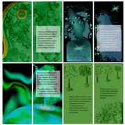 Set of template for brochures Stock Illustration