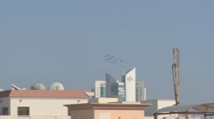 Red Arrows over Doha - stock footage