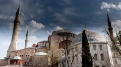 Hagia Sophia Time Lapse - stock footage