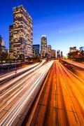 Los Angeles Highway Cityscape Stock Photos