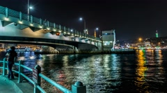 Under the Galata Bridge Stock Footage