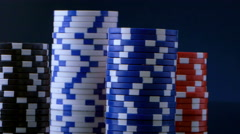 4K casino Poker chips Stock Footage