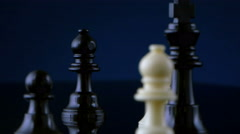 4K chess pieces Stock Footage