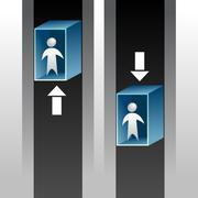 Elevator Ride Icon - stock illustration