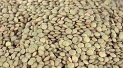Brown Lentils (seamless loopable) Stock Footage