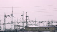 high-voltage transmission line 03 - stock footage