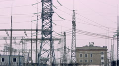 high-voltage transmission line 02 - stock footage