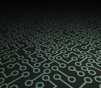 Perspective Electronics - stock illustration
