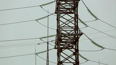 high-voltage transmission line 06 - stock footage