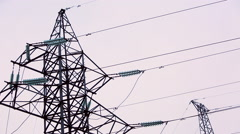 high-voltage transmission line 10 - stock footage