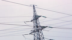 high-voltage transmission line 09 - stock footage