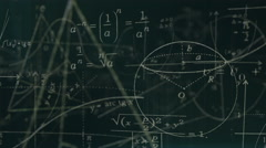 Loopable Math Symbols Stock Footage