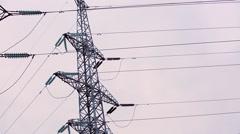 High-voltage transmission line 11 Stock Footage