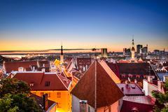 Tallinn, Estonia at Dawn - stock photo