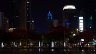 Stock Video Footage of Timelapse traffic street business center skyscraper tall tower Shenzhen night