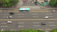 Stock Video Footage of Aerial view traffic street freeway multiple lane Shenzhen people travel day icon