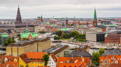 Copenhagen, Denmark Cityscape Stock Footage