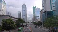 Stock Video Footage of Timelapse traffic street busy highway modern skyscraper Shenzhen day landmark