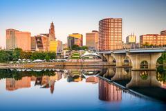 Hartford City Skyline - stock photo
