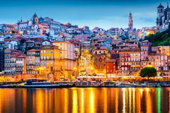 Porto Portugal Skyline Stock Photos