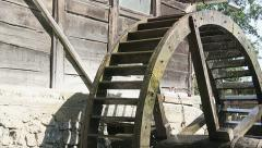 Water mill - two clips - stock footage