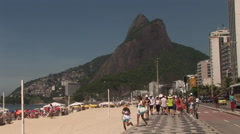 Rio de Janeiro: Wide Shot of Sugar Loaf and Iconic Beach (1) Stock Footage