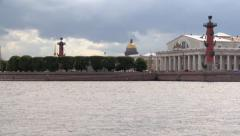 Neva River in St. Petersburg. Stock Footage