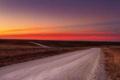 Country gravel road horizon Stock Photos