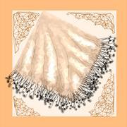 Silk abstract napkin Stock Illustration