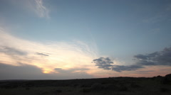 Time lapse. sunset. clouds Stock Footage