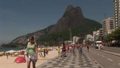 Rio de Janeiro: Wide Shot of Sugar Loaf and Iconic Beach (2) Stock Footage