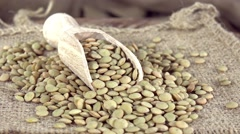 Rotating Brown Lentils (not loopable) Stock Footage