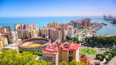 Malaga, Spain Time Lapse Stock Footage
