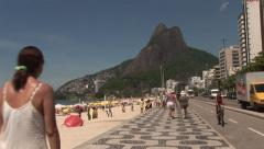 Rio de Janeiro: Wide Shot of Sugar Loaf and Iconic Beach (3) Stock Footage