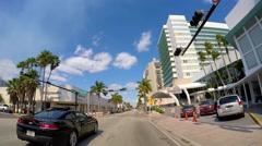 Collins Avenue Miami Beach drive 5 2.7k 60 fps Stock Footage