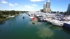Boat show Miami hyperlapse 4k video Stock Footage