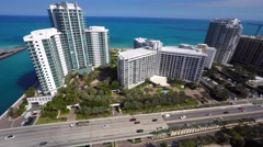 One Bal Harbour aerial 4k video 2 Stock Footage