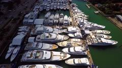 Miami International Boat Show 7 4k Stock Footage