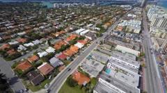 Surfside Florida 4k aerial video Stock Footage